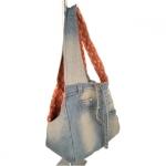 Borsa a spalla in Jeans per Chihuahua