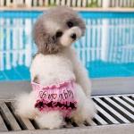 Mutandine Rosa per Cani con Ruche e chiusura a Velcro