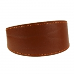 Collar for Greyhound in Brown Leather