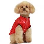 Cappotto Cani Piccoli senza Cappuccio in Rosso