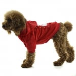 Sweatshirt for Dog in Red with Santa Claus