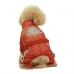 Winter Dog Jumpsuit 4 Paws without Hood in Orange