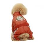 Tuta Invernale 4 Zampe senza Cappuccio per Cani in Arancione