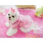 Pink Candy Fleece Dog Coat