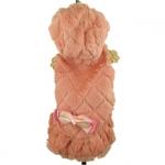 Cappotto in eco-pelliccia Rosa Antico per Cane