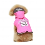 Waterproof Jacket Team Spirit for Small Dogs in Fuchsia