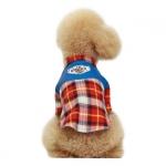 Camisa Roja Western a Cuadros para Perros Pequeños