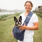 Tracolla in Cotone con Tasca per Cani fino a 15 Kg