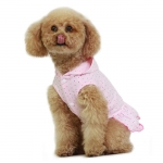 Sweet Girl Dress in Pink for Small Sized Dog
