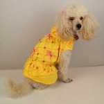 Dog Dress 1000 Bows with Skirt in Yellow