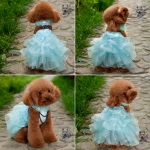 Dog Wedding Dress in Light Blue