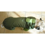 Dark Green Dog Raincoat