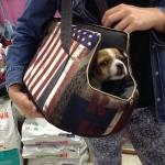 Bolso Perros Pequeños y Chihuahua tejido Banderas