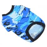T-shirt Azur Camouflage pour Petits Chiens
