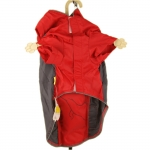 Red Bully Nylon Raincoat for Big Dogs