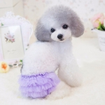 Dog Sanitary Panty with Tulle in Lilac