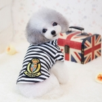 Summer T-shirt for Small Dogs with Blue and White Stripes