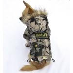 Giaccone per Cani Beige Mimetico Air Force