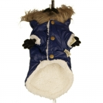 Las Vegas Winter Coat for Small Dog in Blue