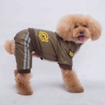Green Air Force Winter Suit for Small Dog