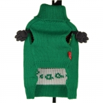 Green Sweater with Owl for Small Dogs