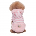 Pink Plush Coat for Small Dog