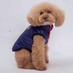 Chaqueta Bomber Azul Doble Cara para Perro Pequeño