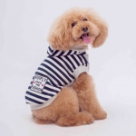 Blue and White Striped Sweatshirt for Small Dogs