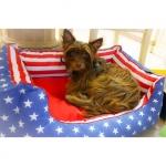 Cama Desenfundable para Perros Bandera de Estados Unidos
