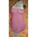 Mantellina per cani Rosa in cotone