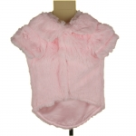 Pink Glamour Dog Coat with Soft Fur