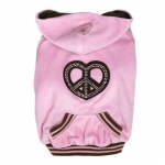 Pink Sweatshirt Peace and Love