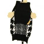 Jersey pied-de-poule blanco y negro para perros