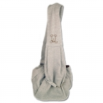 Gray Shoulder Bag for Small Dogs