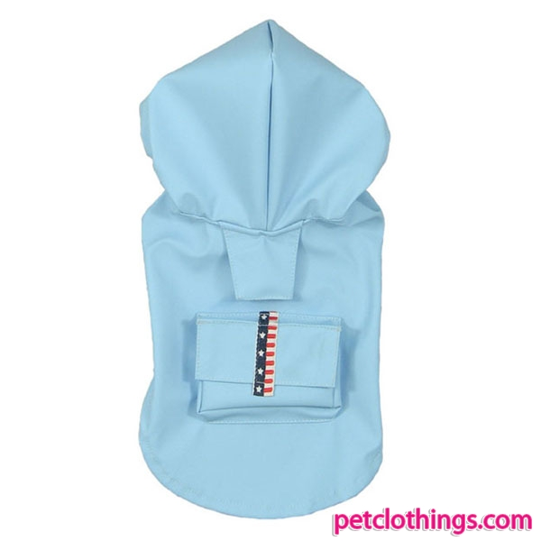 SkyBlue Sleeveless Raincoat for Large Dog