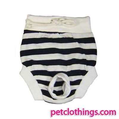 Mutanda pantaloncino per cani a righe Bianche e Nere