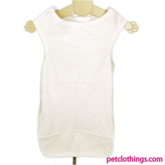 Camiseta Blanca para razas de Perros Grande