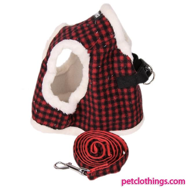 Set Pettorina Invernale Rossa con guinzaglio