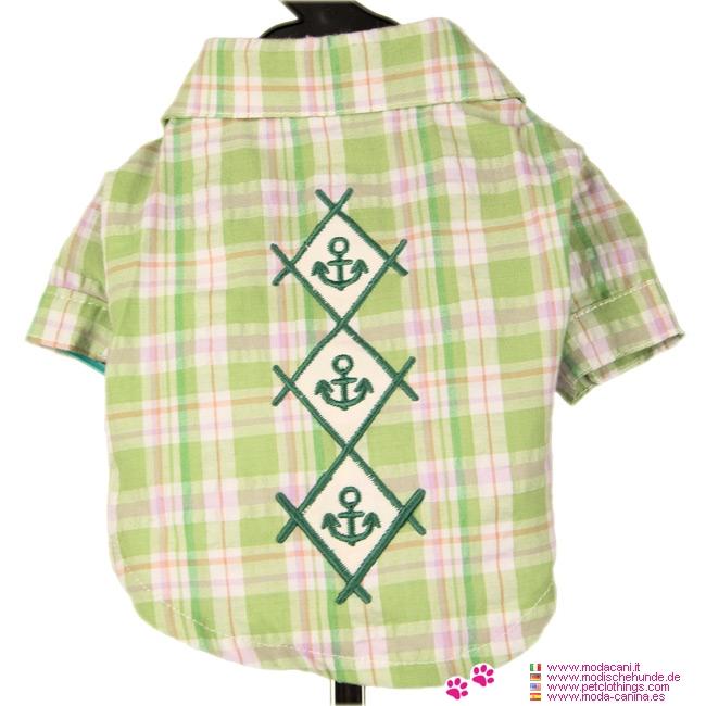 Camisa Verde claro para Perros con bordado