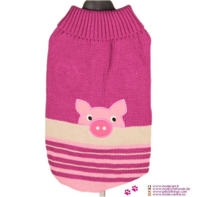 Dog Sweater Piggy Fuchsia