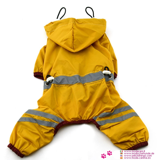 4-legged Dog Raincoat in Yellow