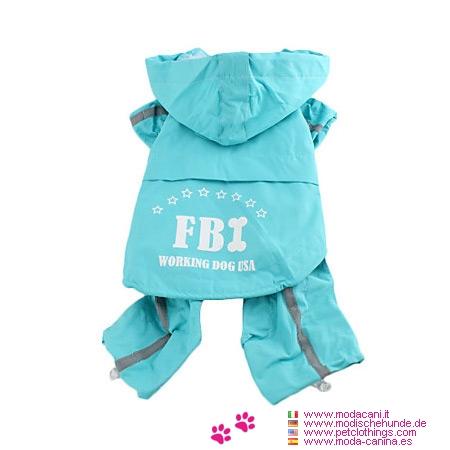 Blue Raincoat for Large Dog 4 Legs