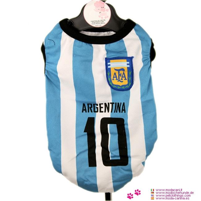 Maglia Calcio dell'Argentina per Cani