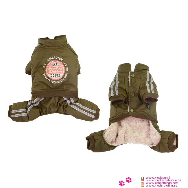 Winter Dog Jumpsuit 4 Paws without Hood in Green
