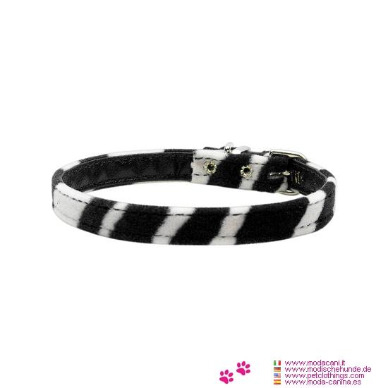 Collar Cebra para Perros Negro y Blanco