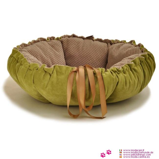 Coussin/Panier pour Chien Marigold Vert et Beige