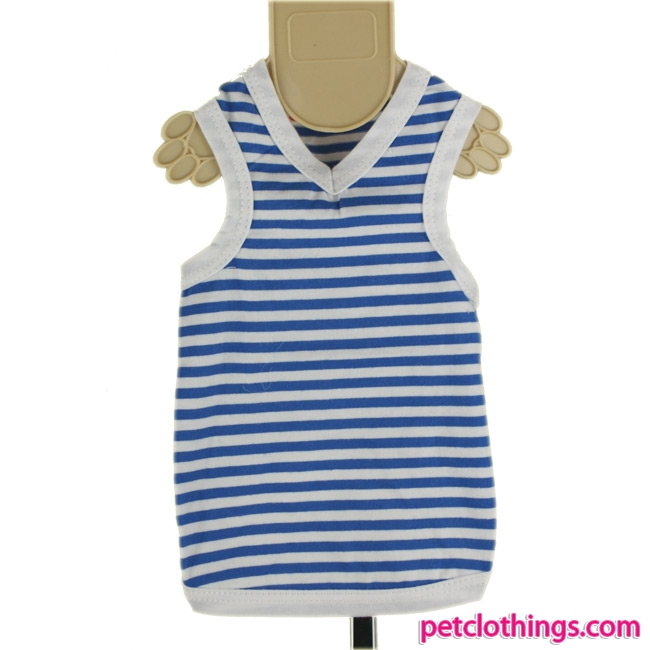 Dog Vest with white and blue stripes