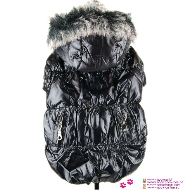 Manteau d'Hiver pour Chien en Noir avec Polaire