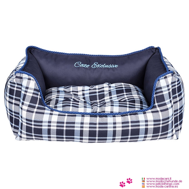 panier amovible cossais bleu pour chien. Black Bedroom Furniture Sets. Home Design Ideas