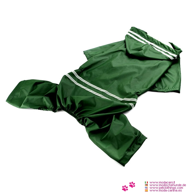 Green Raincoat 4 Paws for Medium and Large Dog